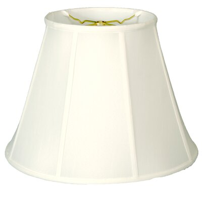 Deep 18 Silk/Shantung Empire Lamp Shade Color: White