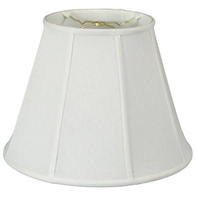 Deep 20 Silk/Shantung Empire Lamp Shade Color: Linen White