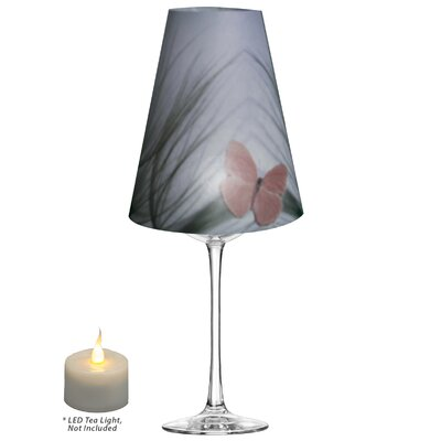 Pink Butterfly on Beach Grass Vellum Party 5 Empire Lamp Shade