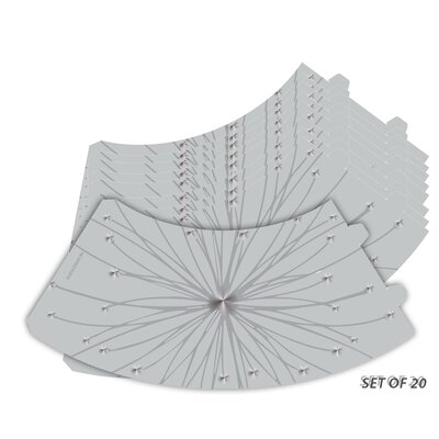 Star Burst Silhouette Vellum Party 5 Empire Lamp Shade Set Of: Set of 20