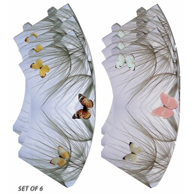 Butterfly on Beach Grass Vellum Party 5 Empire Lamp Shade