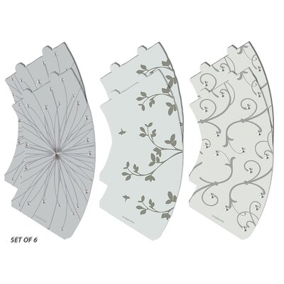 Flower Silhouette Vellum Party 5 Empire Lamp Shade