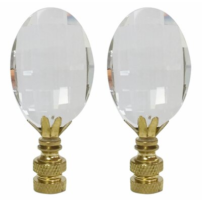 Oval Radiance Cut K9 Crystal Lamp Finial