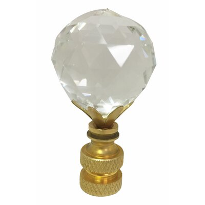 Faceted Diamond Cut K9 Crystal Lamp Finial