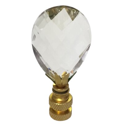 Diamond Swiss Cut K9 Crystal Lamp Finial