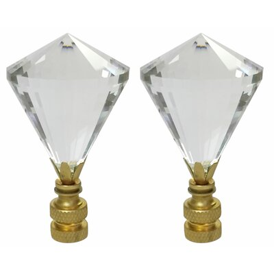 Diamond Gem Cut K9 Crystal Lamp Finial