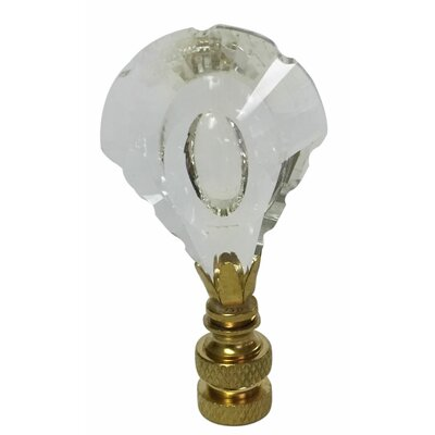 Designer Cut K9 Crystal Lamp Finial