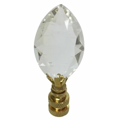 Pear Shaped K9 Crystal Lamp Finial