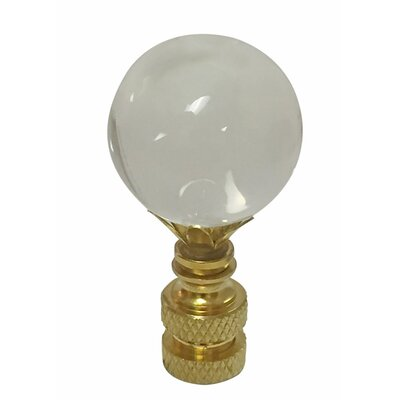Ball K9 Crystal Lamp Finial Size: 2.62 H x 1 W x 1 D
