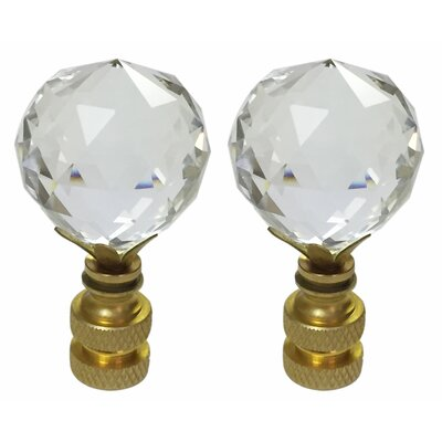 Faceted Diamond Cut K9 Crystal Lamp Finial