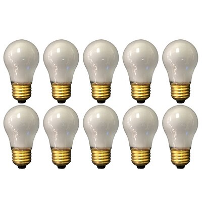 15W Frosted E26 Medium Incandescent Light Bulb