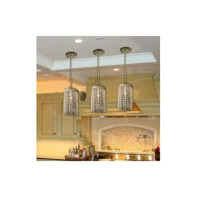 Locicero Crystal Socket Ceiling 1 Light Semi Flush Mount