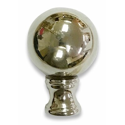 Ball Lamp Finial for Lamp Shade Color: Silver