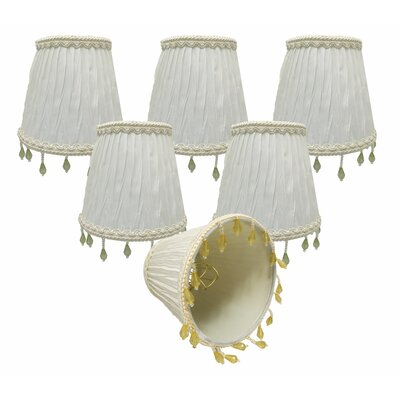 5 Silk/Shantung Empire Candelabra Shade Color: White
