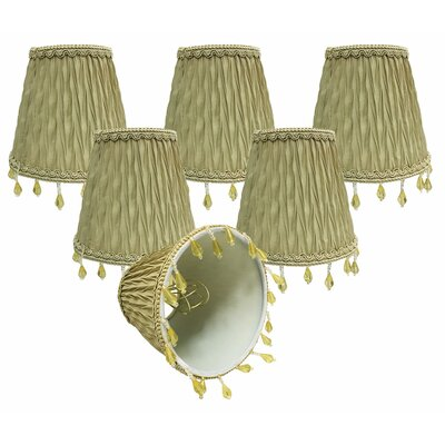 5 Silk/Shantung Empire Candelabra Shade Color: Antique Gold