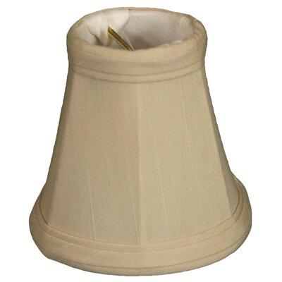 3.5 Silk Bell Candelabra Shade Color: Beige