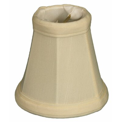 3.5 Silk Bell Candelabra Shade Color: Eggshell