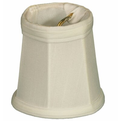 4.25 Silk Empire Candelabra Shade Color: White