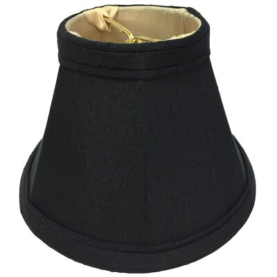 6 Silk Bell Candelabra Shade Color: Black/Gold