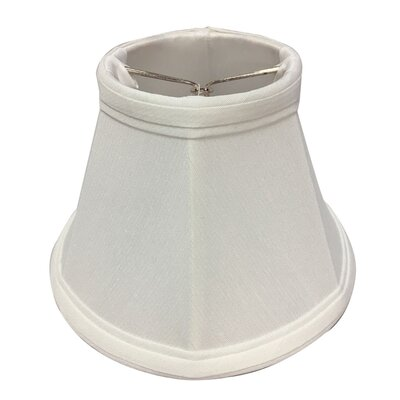 6 Silk Bell Candelabra Shade Color: White