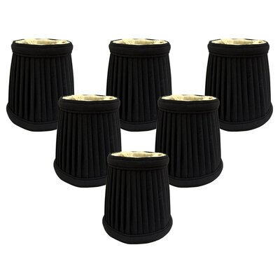 4.25 Silk Empire Candelabra Shade Color: Black/Gold
