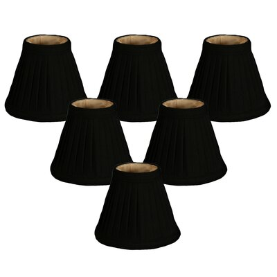 5 Silk Empire Candelabra Shade Color: Black/Gold