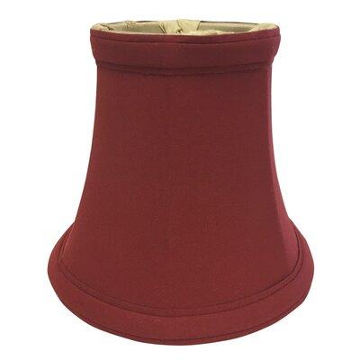 5 Silk Bell Candelabra Shade Color: Burgundy