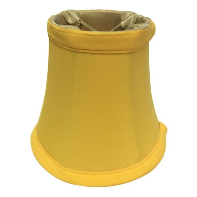 5 Silk Bell Candelabra Shade Color: Yellow