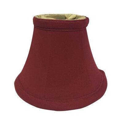 6 Silk Bell Candelabra Shade Color: Burgundy