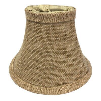 6 Burlap Bell Candelabra Shade