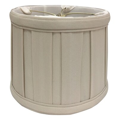 English Pleat 5 Silk Drum Candelabra Shade Color: Beige