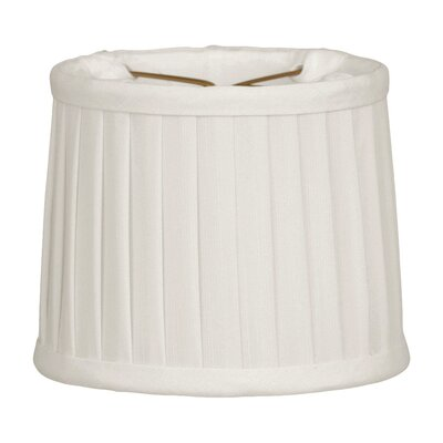 Side Pleat 5 Silk Drum Candelabra Shade Color: White