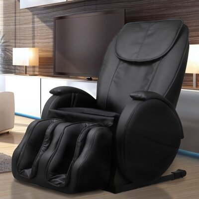 Hampton Edition Faux leather Zero Gravity Massage Chair Upholstery: Black