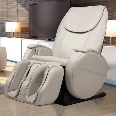 Hampton Edition Faux leather Zero Gravity Massage Chair Upholstery: Ivory