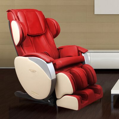 Santa Monica Edition Zero Gravity Massage Chair Upholstery: Red