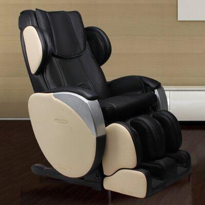 Santa Monica Edition Zero Gravity Massage Chair Upholstery: Black