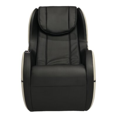 Palo Alto Edition Leather Massage Chair Upholstery: Black