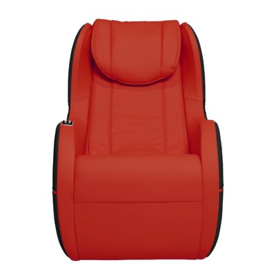 Palo Alto Edition Leather Massage Chair Upholstery: Red