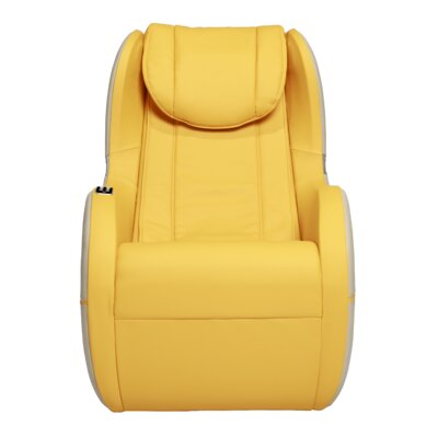Palo Alto Edition Leather Massage Chair Upholstery: Yellow