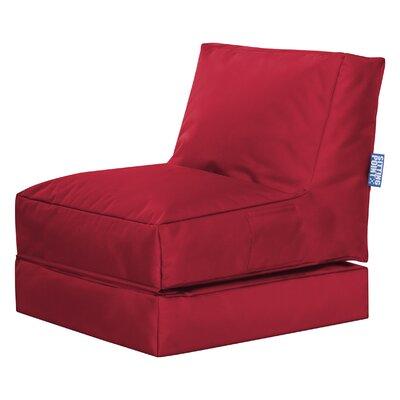 Twist Brava Convertable Bean Bag Lounge Color: Red