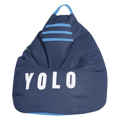 Yolo Bean Bag Chair Upholstery: Navy