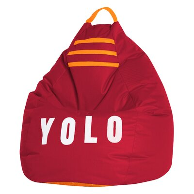 Yolo Bean Bag Chair Upholstery: Red