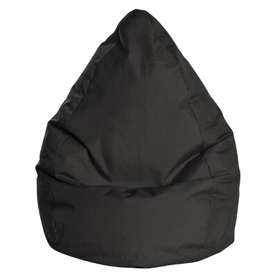 Brava Bean Bag Chair Color: Black