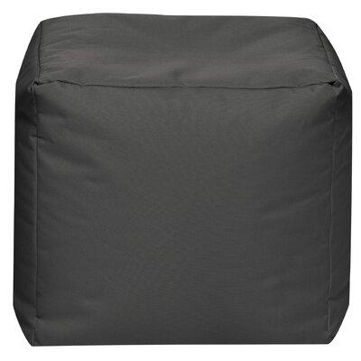 Cube Pouf Ottoman Upholstery: Grey