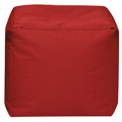 Cube Pouf Ottoman Upholstery: Red