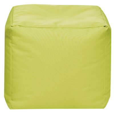 Cube Pouf Ottoman Upholstery: Green