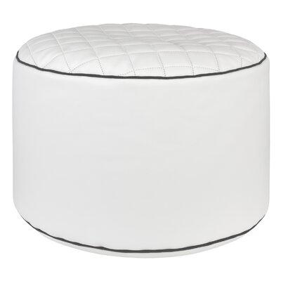 Dotcom Modo Tap Pouf Ottoman Upholstery: White