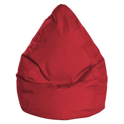 Brava Bean Bag Chair Upholstery: Red