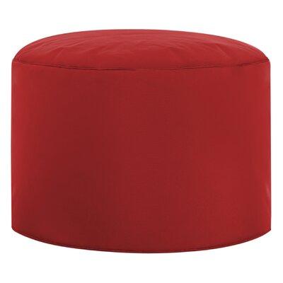 Dotcom Brava Pouf Ottoman Upholstery: Red