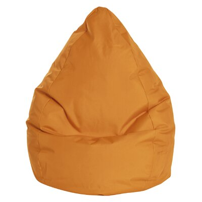Brava Bean Bag Chair Color: Orange